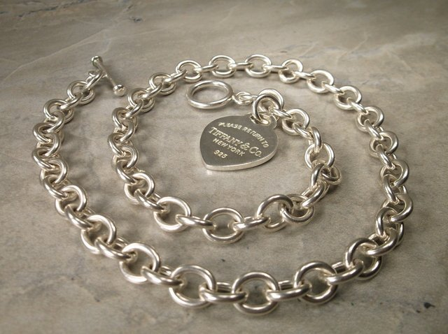 Genuine Tiffany & Co. Sterling Chain Necklace 17""