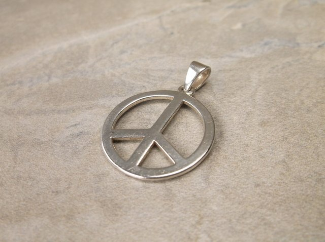 Gorgeous Sterling Silver Peace Pendant