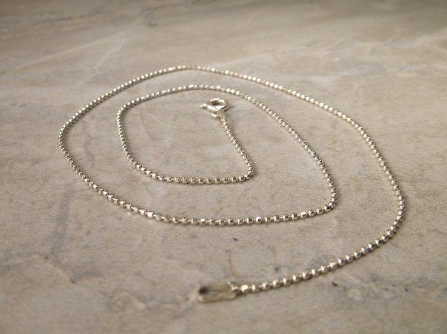 Gorgeous Sterling Silver Chain Necklace 16""