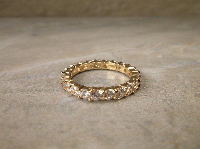 Gorgeous gold Over Sterling Ring 8