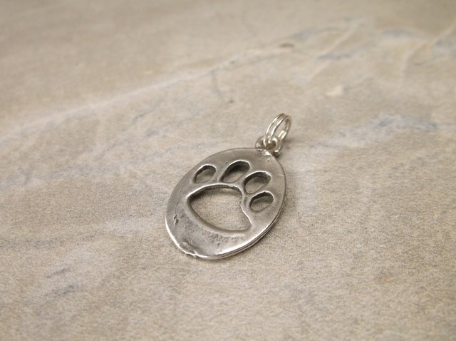 Gorgeous Sterling Silver Tiger Paw Charm