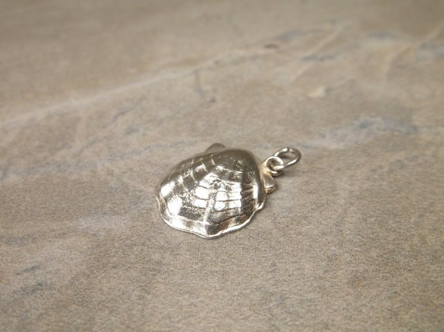 Gorgeous Antique Sterling Scallop Charm