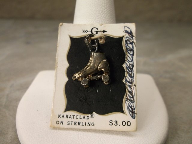 Gorgeous Antique Sterling Roller Skate Charm