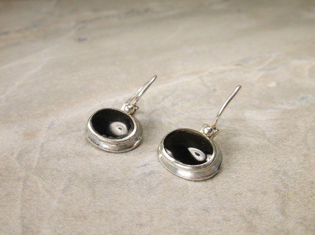 Beautiful Sterling Silver Onyx Earrings