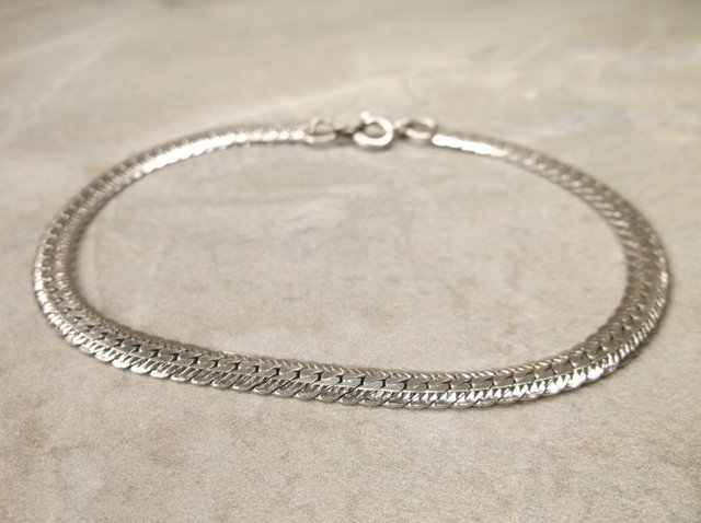Gorgeous Sterling Silver Thick Bracelet