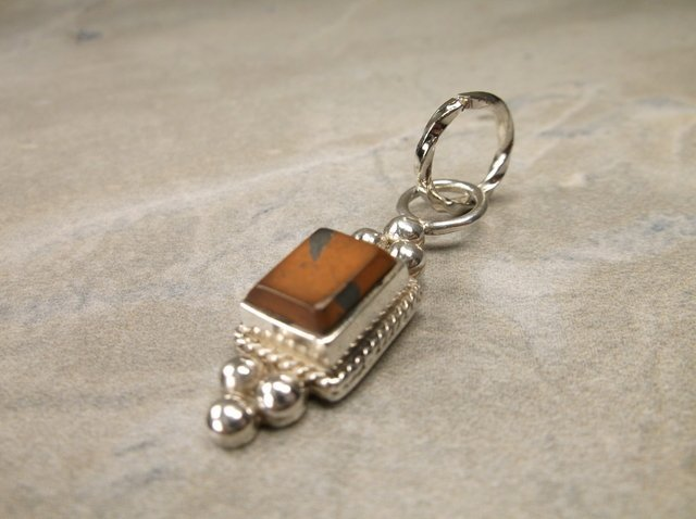 Gorgeous Sterling Red Japser Pendant