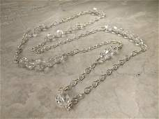Gorgeous Sterling Silver Crystal Necklace 30