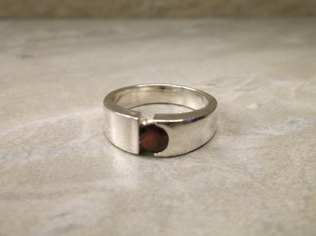 Gorgeous Sterling Genuine Ruby Ring 7.5 Heavy