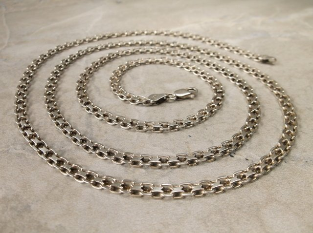 """Stunn Very Heavy Sterling Chain Necklace 30"""""""