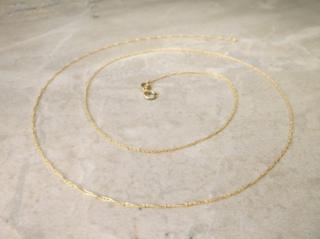Gorgeous 14kt Gold Chain Necklace 20""