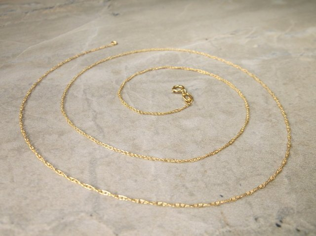 """Gorgeous 14kt Gold Chain Necklace 20"""""""