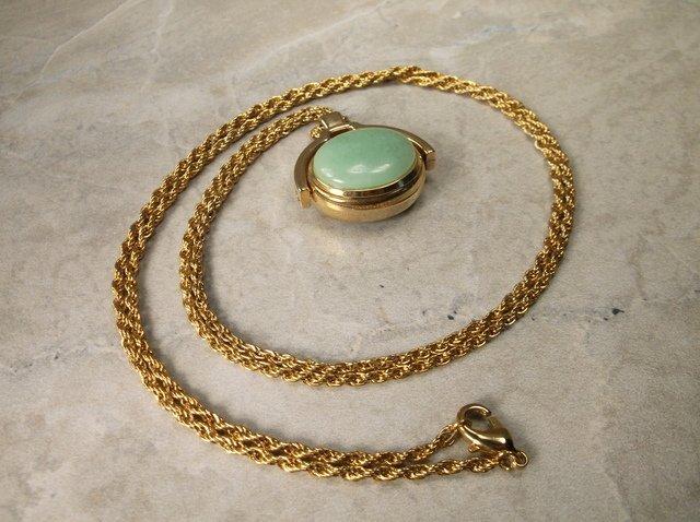 Gorg Genuine Aventurine Watch Necklace