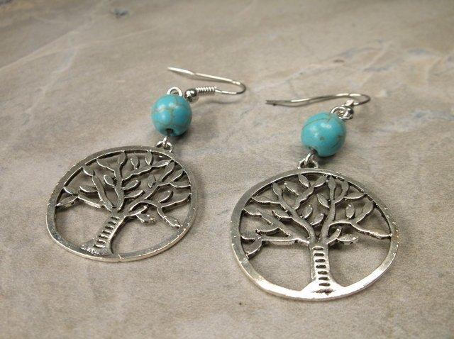 Gorgeous Southwestern Tree of Life Earrings