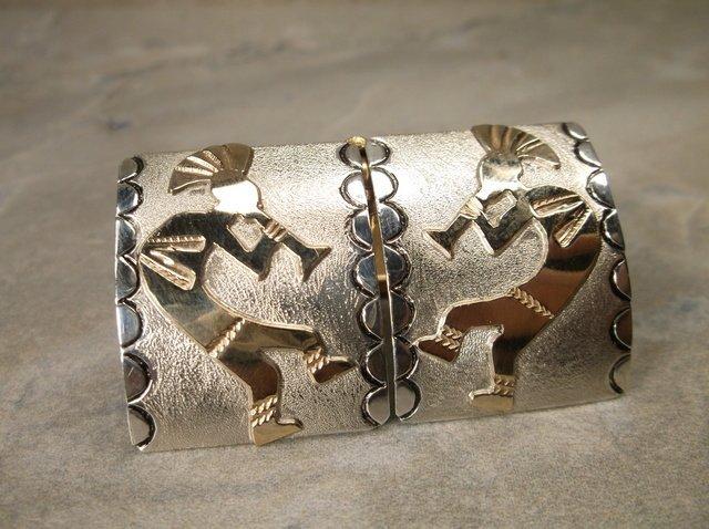 Stunn Navajo Sterling 12kt Kokopelli Earrings Wil