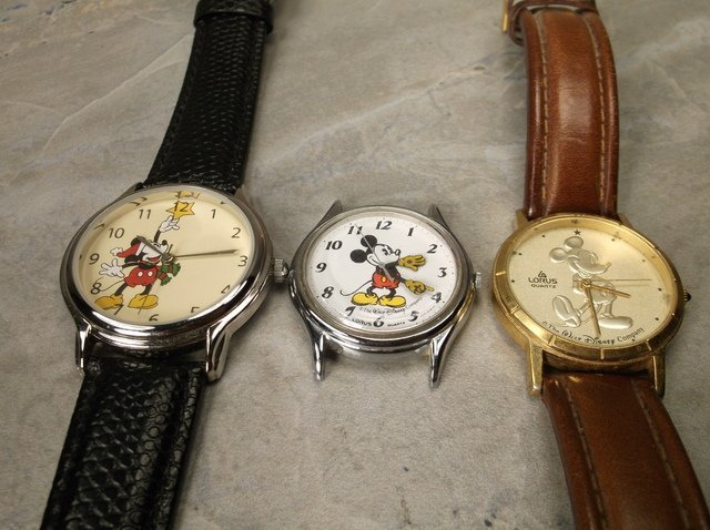 3 Disney Mickey Mouse Wristwatches Lorus more