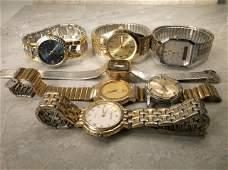 Mens Wristwatch Lot Bulova Seiko Gruen More