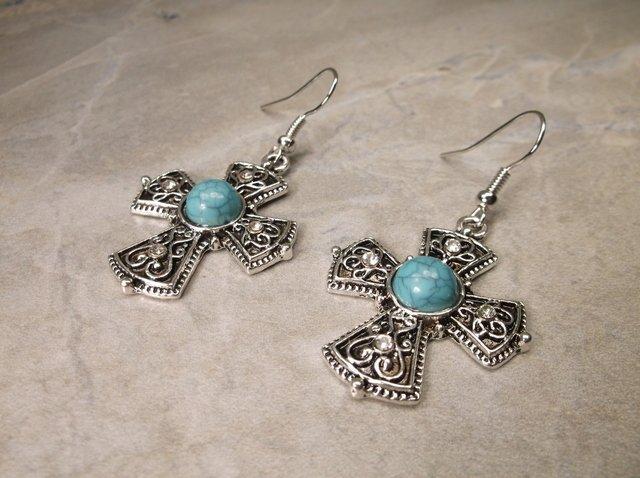 Gorgeous Southwestern Cross Earrings