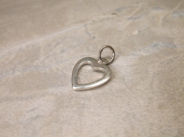 Gorgeous Sterling Silver Heart Charm