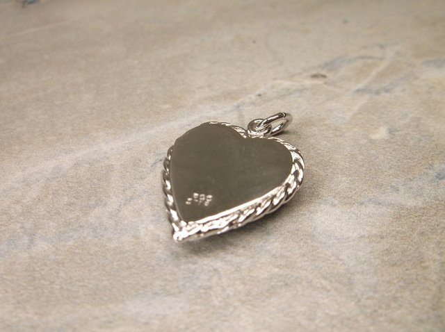 Gorgeous Antique Sterling Heart Locket Pendant