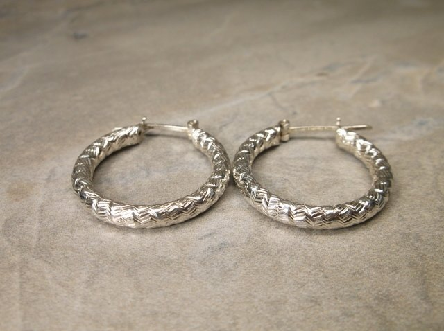 Gorgeous Sterling Silver Hoop Earrings