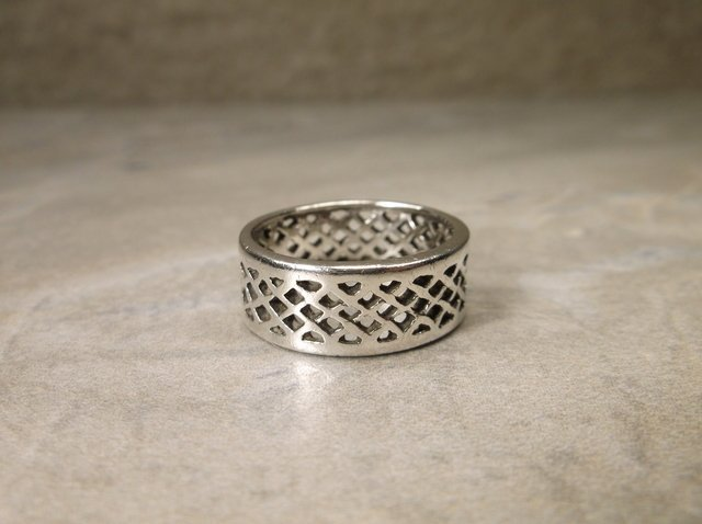 Gorgeous Sterling Silver Lattice Band Ring 7