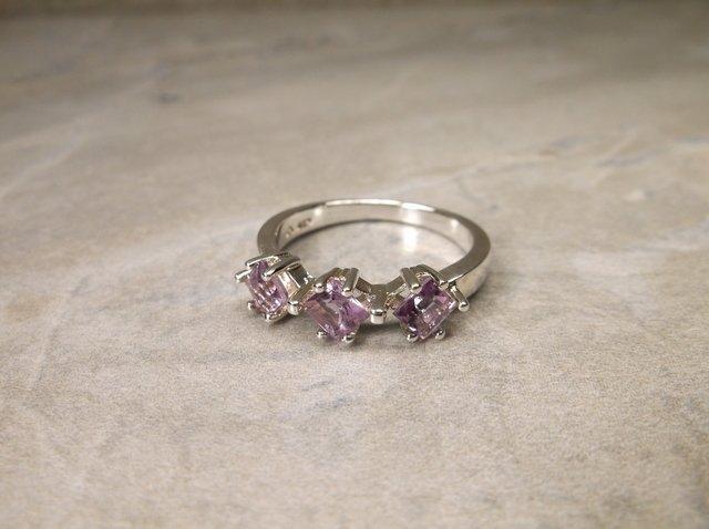 New Sterling Genuine Amethyst Ring 8