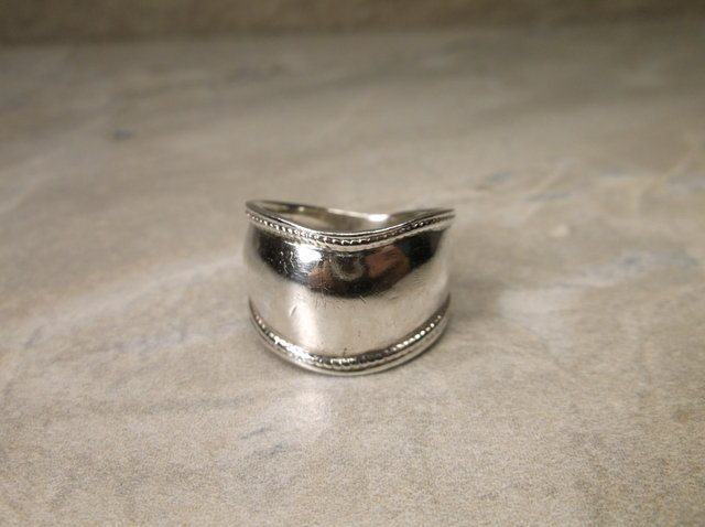 Wide Sterling Silver Southwest Ring 7