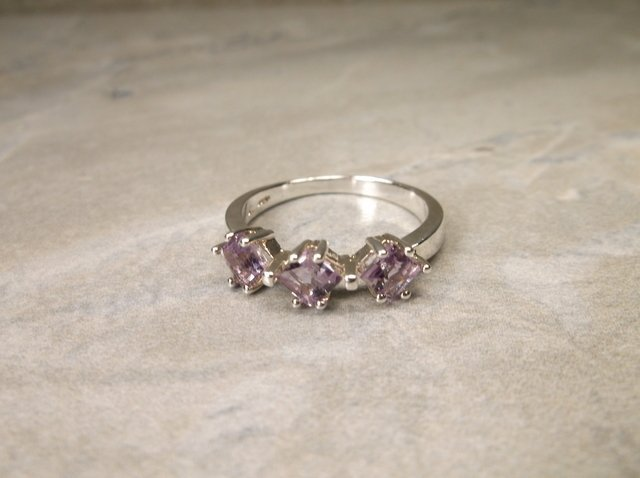 Gorgeous Sterling Genuine Amethyst Ring 8
