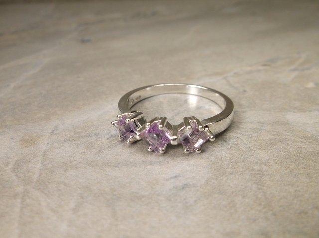 New Sterling Genuine Amethyst Ring 10