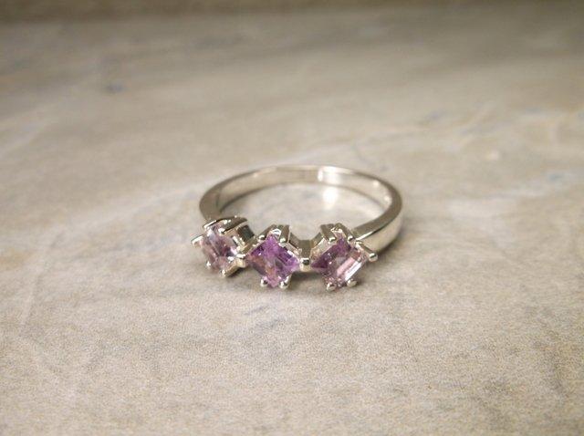 New Sterling Genuine Amethyst Ring 9.5