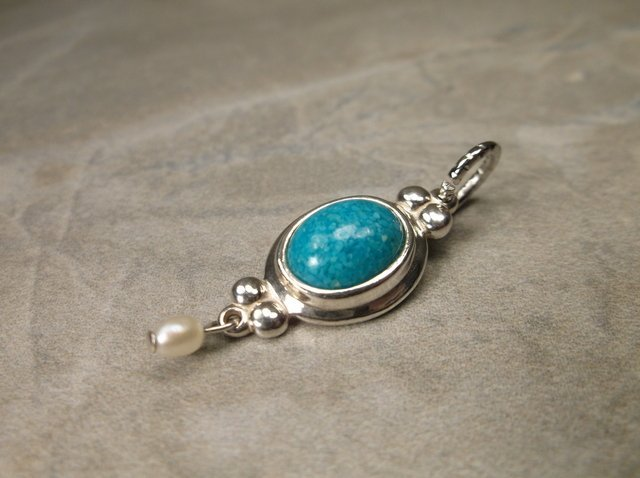 Gorgeous Sterling Silver Turquoise Pendant