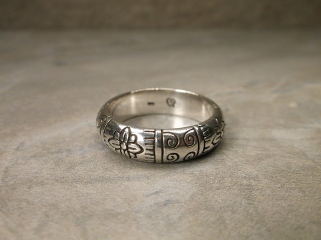 Gorgeous Heavy Brighton Sterling Silver Ring 9