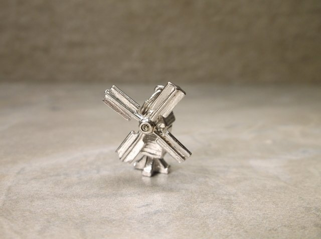 Gorgeous Antique Wells Sterling Windmill Charm