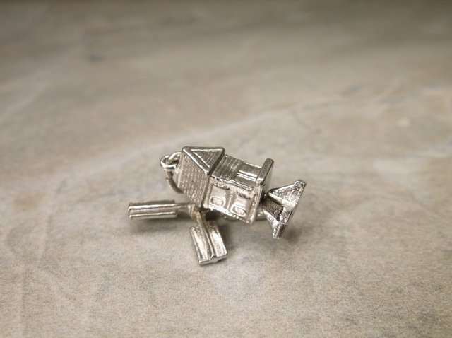 Gorgeous Antique Wells Sterling Windmill Charm - 2