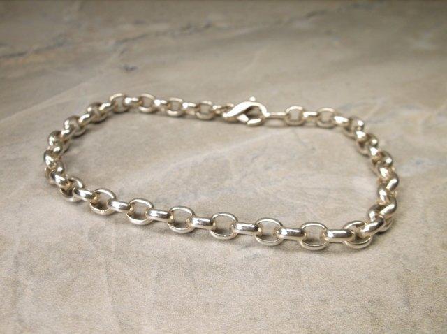 Gorgeous Heavy Sterling Silver Chain Bracelet