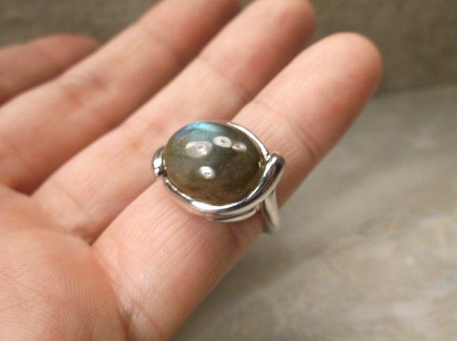 Gorgeous Sterling Silver Labradorite Ring 6 - 2