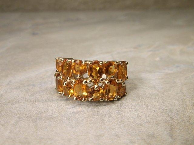 Gorgeous Sterling Orange Tourmaline Ring 6