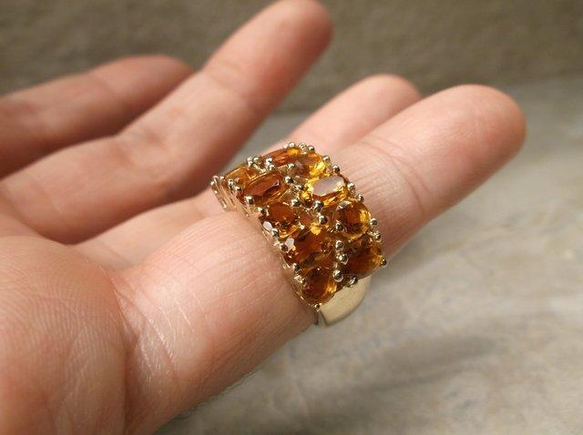 Gorgeous Sterling Orange Tourmaline Ring 6 - 2