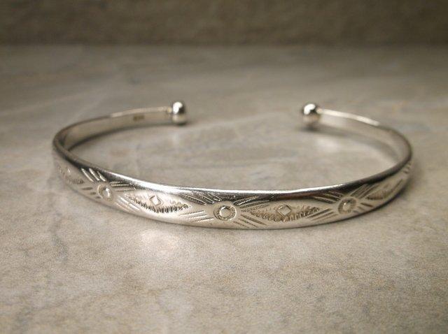 Gorg Heavy Navajo Sterling Silver Cuff Bracelet