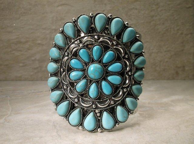 Sunning Huge Southwestern Cuff Bracelet