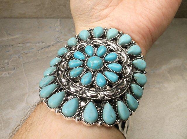Sunning Huge Southwestern Cuff Bracelet - 2