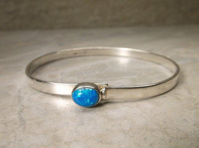 Gorgeous Sterling Fire Opal Bracelet MF Navajo?