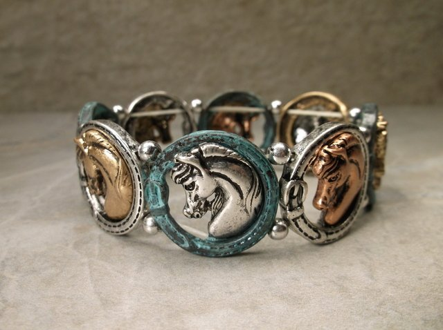 Gorgeous Southwestern Horse Bracelet