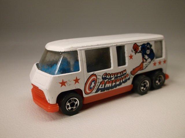 Vintage 1976 Hot Wheels Capt America Motor Home