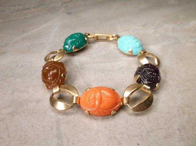 Gorgeous Vintage Scarab Bracelet