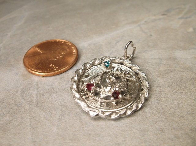 Gorgeous Antique Sterling Sweet 16 Charm