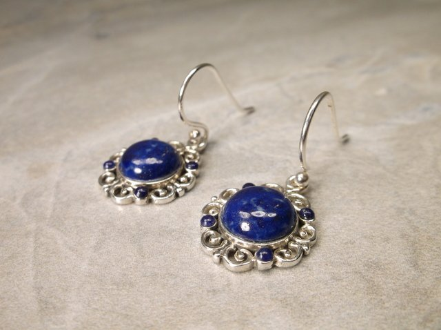 Gorgeous Sterling Silver Lapis Earrings