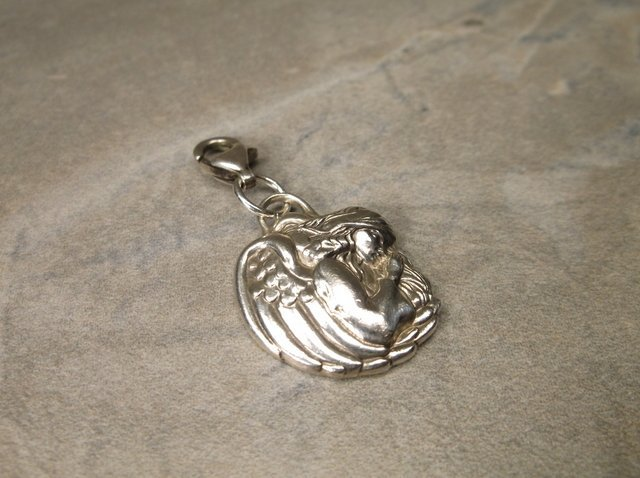 Gorg Sterling Michael Angel of Protection Charm