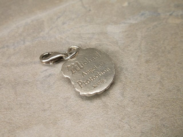 Gorg Sterling Michael Angel of Protection Charm - 2