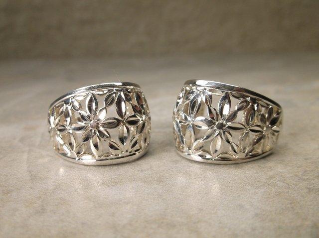 Gorgeous Heavy Sterling Silver Earrings